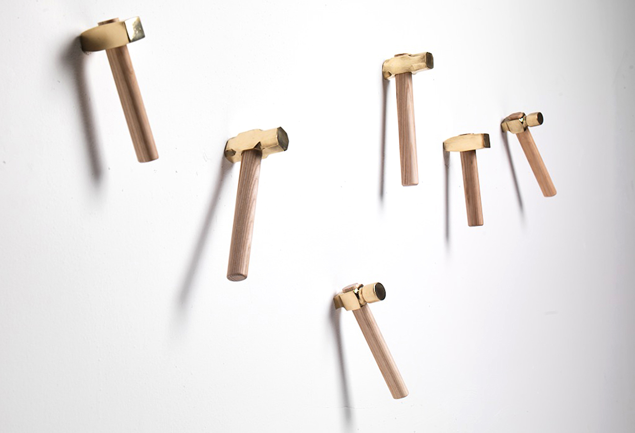 Metal and wood wall hangers - Marcantonio design