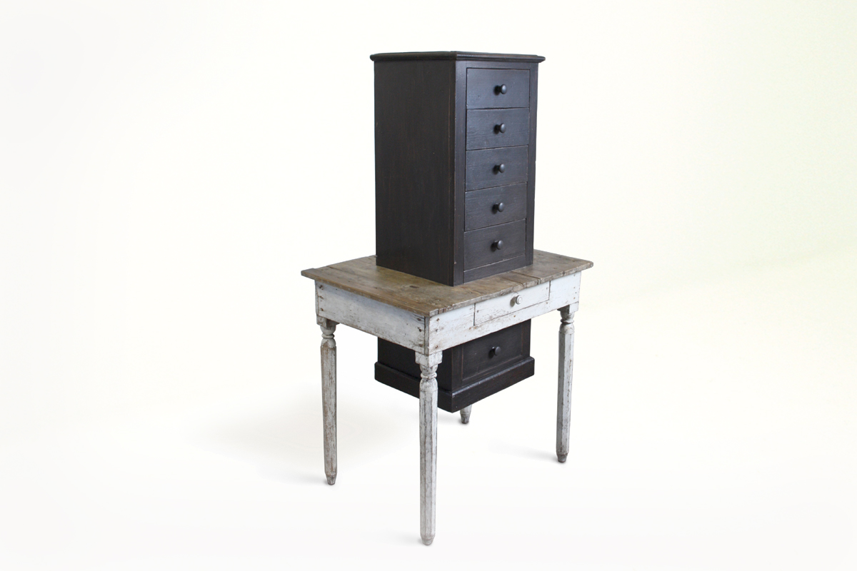 a table merged with a chest of drawers - Marcantonio design
