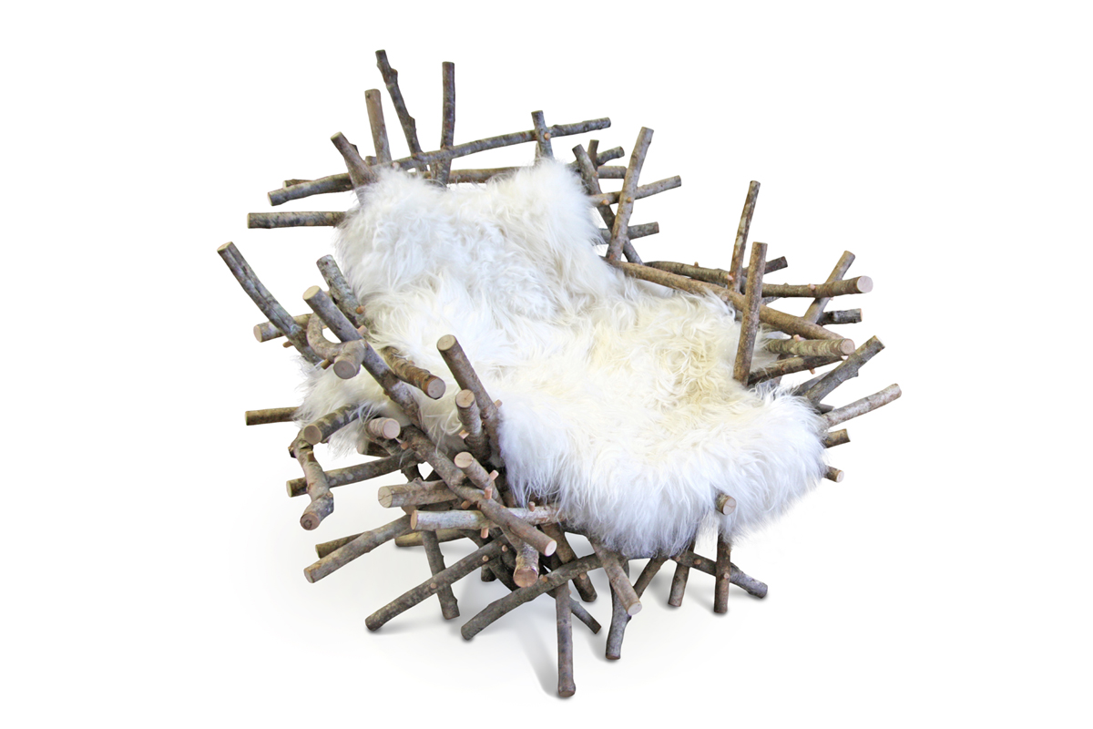 Branches & Fur: recreation of a nest