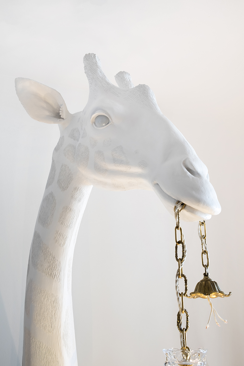 SHE'S IN LOVE BUT SHE DOESN'T KNOW IT YET (giraffe with chandelier) - Marcantonio design
