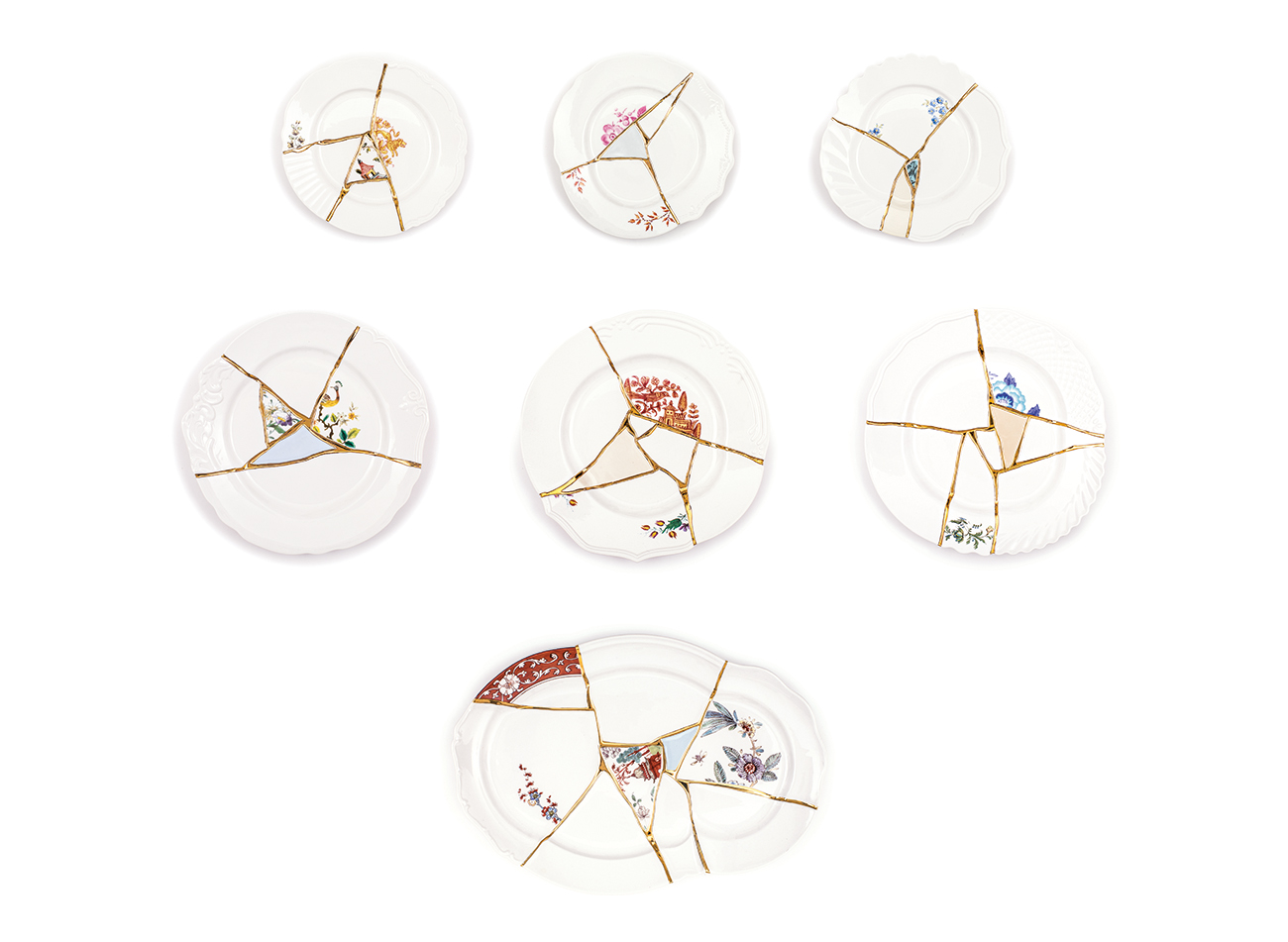 KINTSUGI plates and tray - Marcantonio design