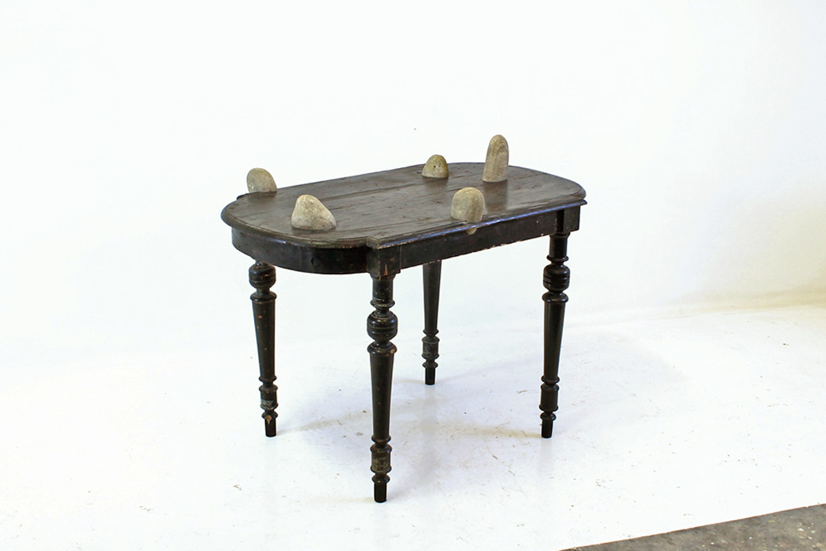 stones are growing in a top table - Marcantonio design
