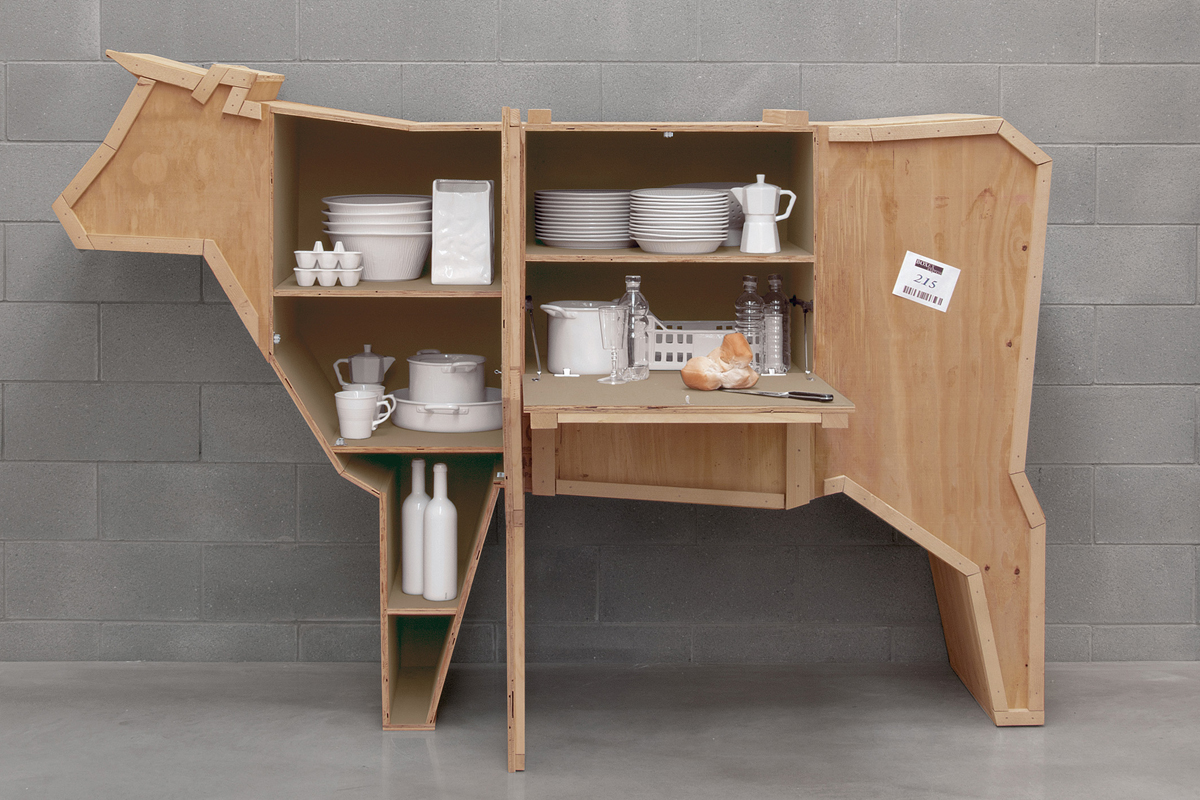 cabinet cases with animal shapes - Marcantonio design