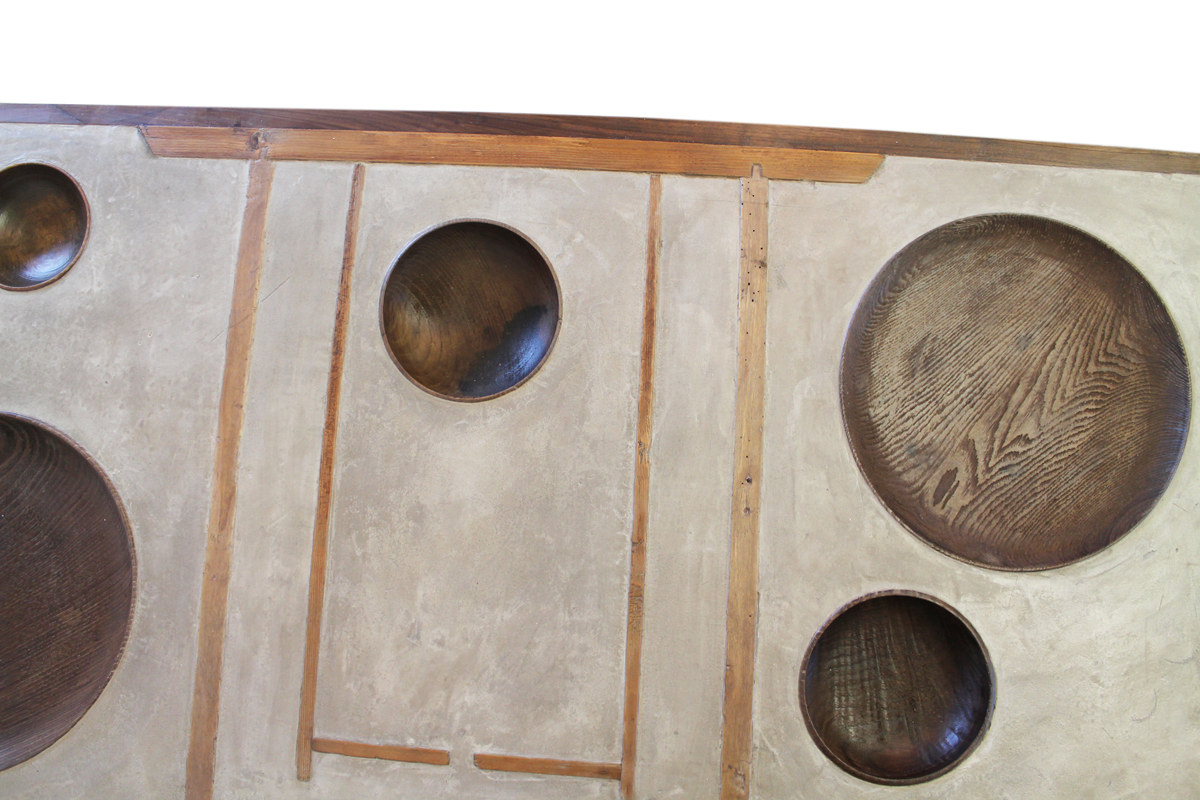 WOOD DISH TABLE - Marcantonio design